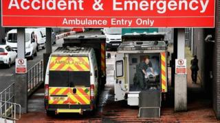 Ambulances at accident and emergency