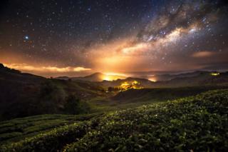Güney Doğu Asya'da yıldızlı geceler