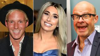 Jamie Laing, Stacey Solomon and Harry Hill