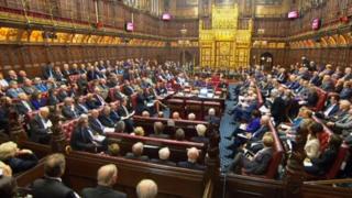 英國上議院3月31日對脫歐法案投票表決