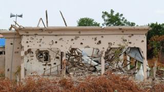 Une mosquée de Bama criblée de balles dans la banlieue de Maiduguri dans l'Etat de Borno (Illustration)