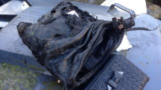 Burnt handbag