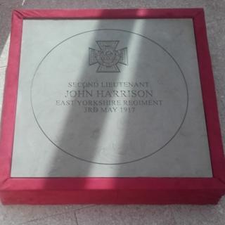 Jack Harrison VC's paving stone