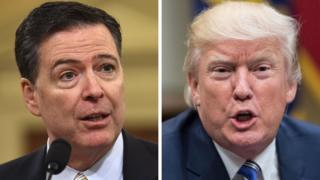 James Comey and Donald Trump composite