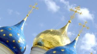 Domes on a Russian Orthodox church near Moscow (file image)