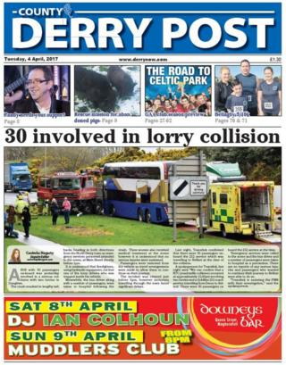 County Derry Post front page