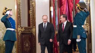 Президент Путин ва Президент Мирзиёев