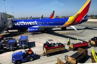 Southwest flight at LAX airport