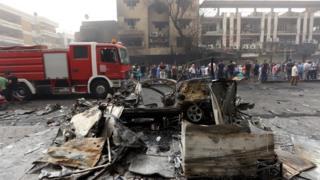 Ikibanza caturikiyemwo igisasu muri Irake itariki 03/07/2016
