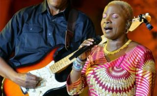 On Sunday, Angelique Kidjo (R) performs during the annual Baalbeck International Festival (BIF), in Baalbeck, Beqaa Valley, Lebanon, 16 July 2017. The festival runs from 07 July to 15 August 2017.