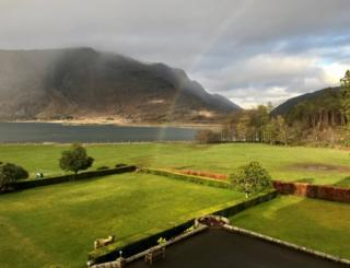 Rainbow spotted by Gregor Innes from a front window of The Torridon by Achnasheen