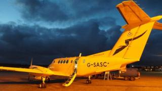 Scottish Air Ambulance Service plane