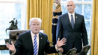 美國總統特朗普和副總統彭斯。