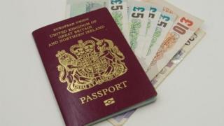 Passport and cash