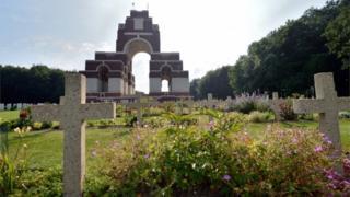 World war One War Memorial in Thiepval