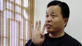 Gao Zhisheng during an interview in 2006