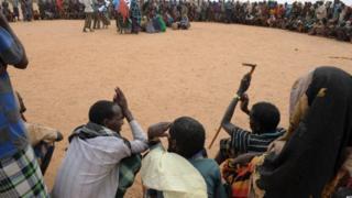 'Yan gudun hijirar Somaliya sun yi curko-curko a kan iyaka