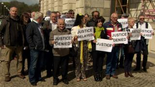 Stormont protest by historical institutional abuse victims