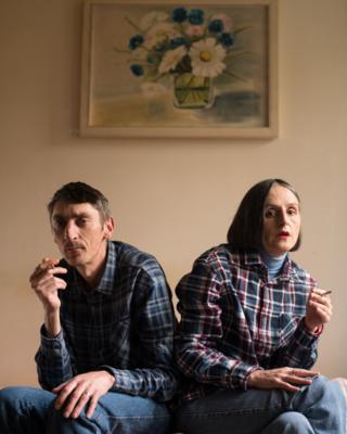 Branka and Drazenko at home
