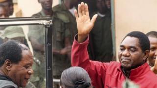 Umukuru w'abatavugarumwe n'ubutegetsi, Hakainde Hichilema, araregwa ubugambanyi