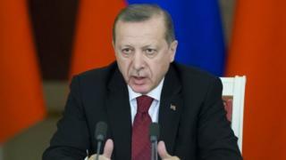 Türkiyə prezidenti Recep Tayyip Erdoğan. Foto: 10 mart 2017