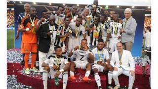 TP Mazembe après leur victoire à la CAF 2016