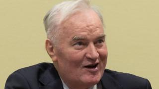 Mladic inside court for di Hague