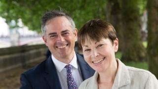 Jonathan Bartley and Caroline Lucas
