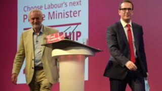 Jeremy Corbyn and Owen Smith at a Labour leadership hustings