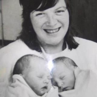 Heidi Gannon and Jo Baines as new born babies with their mother Carol Munroe
