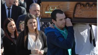 The funeral for Michael McGibbon
