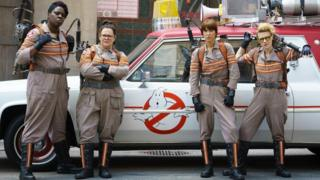 The cast of the new Ghostbusters movie