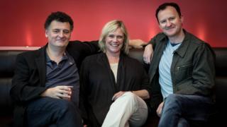 Steven Moffat, Sue Vertue and Mark Gatiss