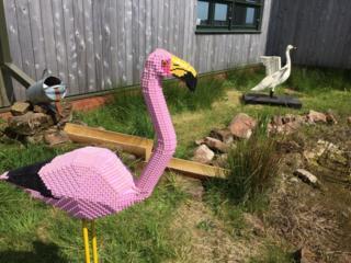 Lego flamingo