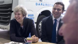 The PM met Peter Cuthbertson during a visit to Darlington last month