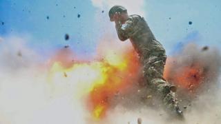 克雷曼在被炸身亡前一瞬間拍攝的照片。
