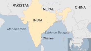 Mapa de Chennai, India