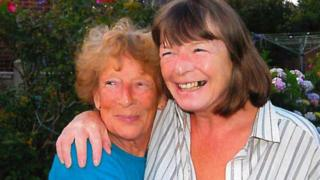 Patricia Wilson (right) with her mother Jean