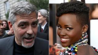 George Clooney and Lupita Nyong'o