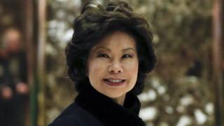 Bà Elaine Lan Chao (Triệu Tiểu Lan), sinh ra tại Đài Bắc vào năm 1953 và sang Mỹ năm 8 tuổi