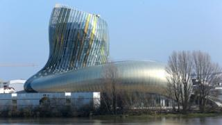 A picture taken on 14 March 2016 in Bordeaux, south-western France, shows a general view of the Cite du Vin