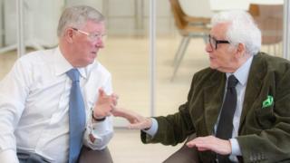 Sir Alex Ferguson with Harry Benson