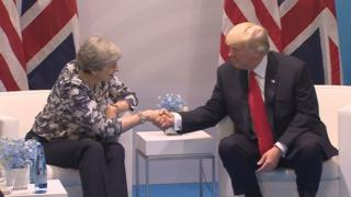 Theresa May and Donald Trump at the G20