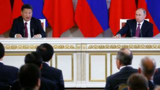 الزعيمان الصيني والروسي