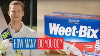 Steve Smith in Weet-Bix advertisement