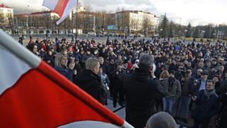 Акция протеста в Молодечно