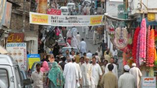 A market in Abbottabad