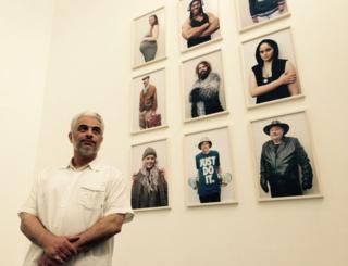Kazem Hakimi at his exhibition