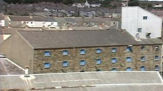 The Buckley's Brewery Maltings in Llanelli pictured in 1987