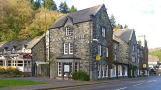 The Royal Oak Hotel in Betws-y-Coed